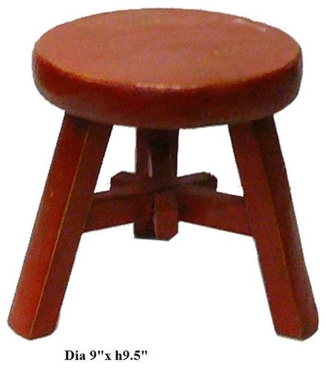 rustic color kid small wood stool