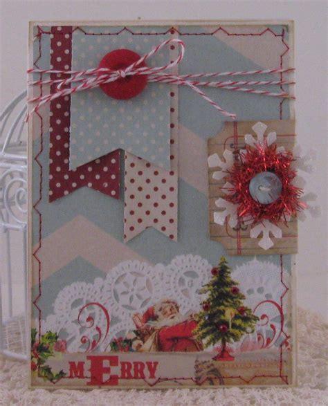 shabby chic christmas card scrapbook cards pinterest