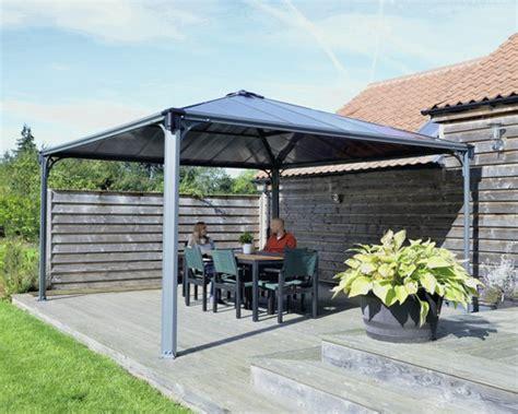 marktpavillon kaufen pavillon palram palermo 4300 405x405 cm anthrazit bei