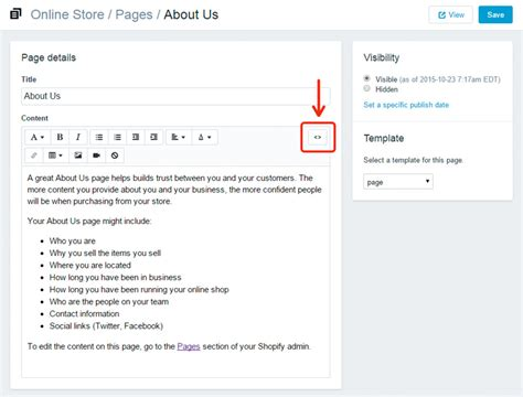 How To Embed A Youtube Video To Shopify Store Shopify About Us Page Template