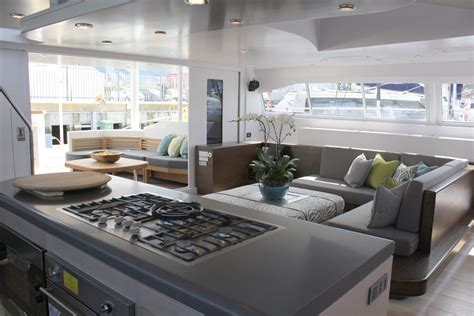 catamaran interior pics the interior of the beautiful open ocean 750 sailing
