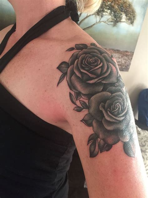 love rose tattoos cover up my new ink shoulder cap