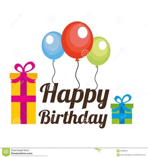 happy birthday web design happy birthday design stock vector image 63369812