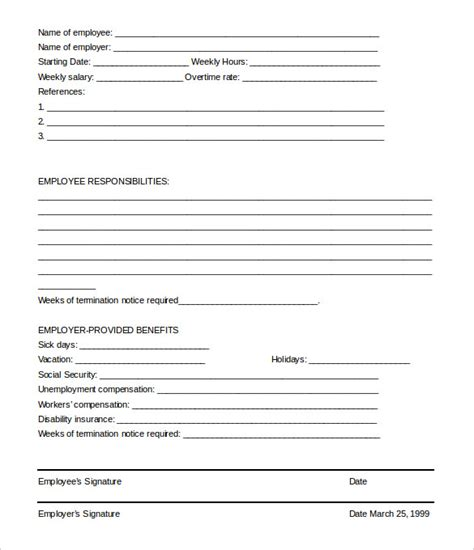 termination of employment form template 23 free termination letter templates pdf doc free