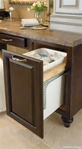 built in kitchen trash can for the home