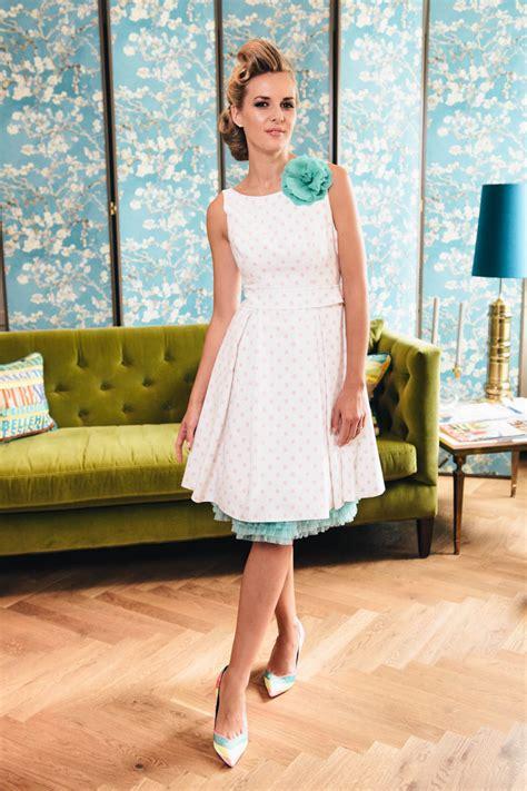 swing hochzeitskleid rockabilly hochzeitskleid mit powder tupfen taschen g 252 rtel
