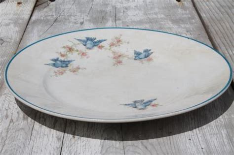 Country Plates Home Decor by Antique Vintage Bluebird China Plate Homer Laughlin Blue