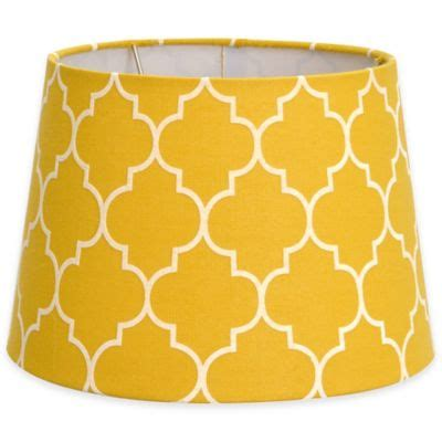 yellow pattern l shade buy yellow l shades from bed bath beyond
