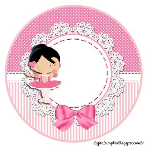 bailarinas para imprimir kit de personalizados tema quot bailarina rosa quot para imprimir