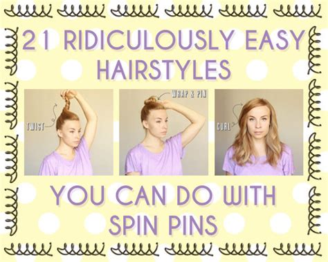 cute hairstyles buzzfeed 21 ridiculously easy hairstyles you can do with spin pins
