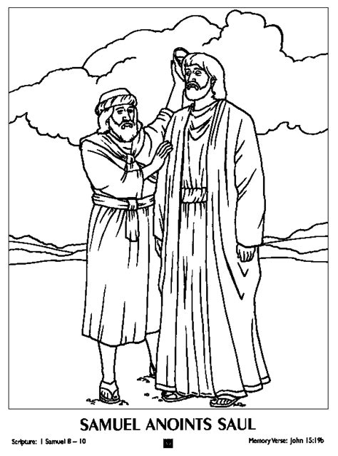 Free Coloring Pages Of King Saul Disobeys God King Saul Coloring Pages