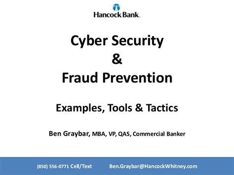 Mba Cyber Security Uk by Updated Cyber Security And Fraud Prevention Tools Tactics