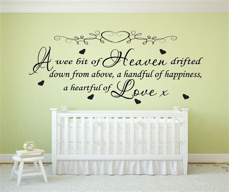 Nursery Wall Sticker Quotes nursery wall art quotes quotesgram