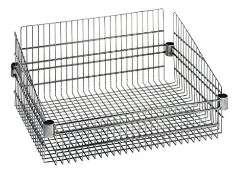 wire basket shelving system quantum storage systems bsk1824c wire post basket chrome