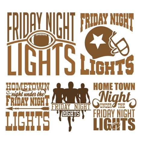 Friday Lights A Town A Team And A by Friday Lights Football Svg Cuttable Design