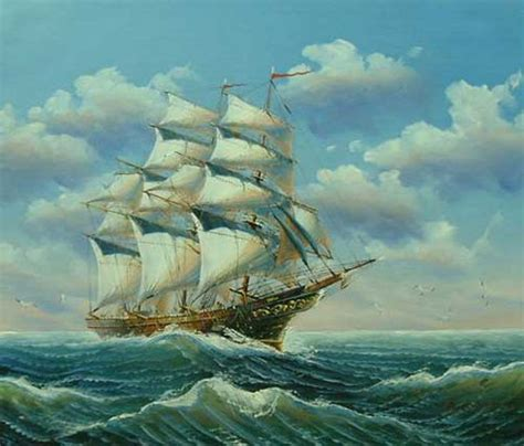 N063 A ship n063 paintings on canvas