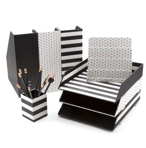 Pin By Kelli Wilson On Desk Decor Pinterest Black And White Desk Accessories