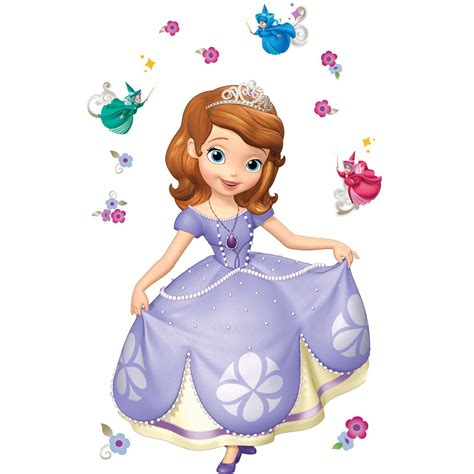 Bm1036 Disney Sofia Princess disney junior sofia the wall decals disney jr princes sofia and sofia