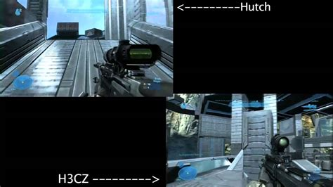 Optic Hutch hutch vs optic h3cz halo reach 1v1 the cage