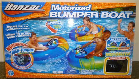 banzai motorized bumper boat instructions nib inflatable banzai 40 quot x 36 quot water motorized bumper