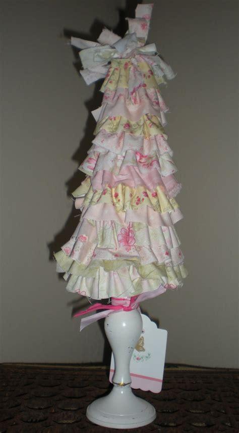 items similar to shabby chic fabric rag ruffled christmas tree home decor on etsy