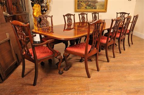 chippendale dining room set regency style dining set pedestal table and ten