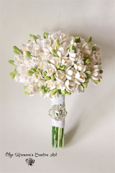 Wedding Bouquets For Sale by Sale White Freesias Wedding Bouquet Bridal Bouquet Eco