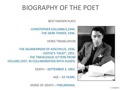 robert frost biography for students prayer before birth a poem by louis macneice ppt