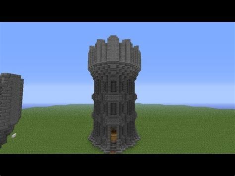 Blueprint House Plans by Minecraft Castle Tower Tutorial Youtube