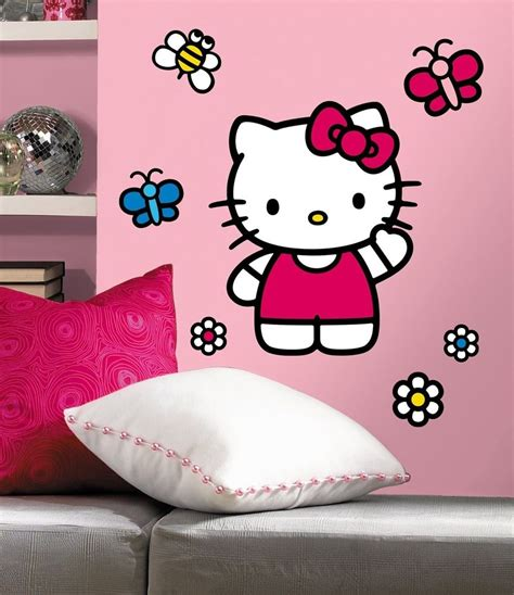 hello wall stickers large world of hello big wall mural stickers new vinyl room decor decals ebay