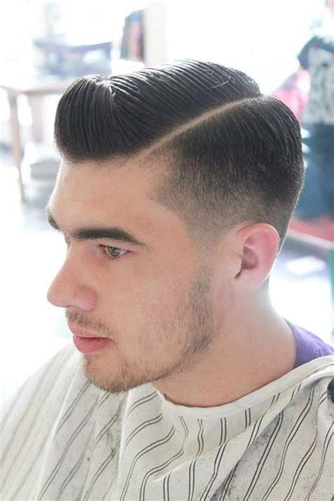 shaved in parting classic taper with shaved part hair styles pinterest