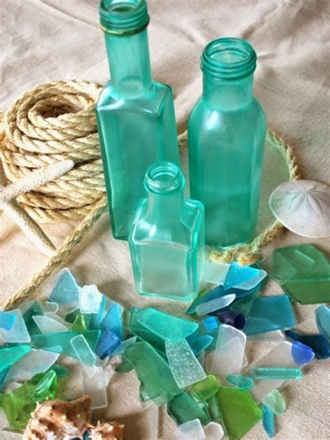 Sea Glass Bottles Ideas Awesome Idea Glass Bottles Recycling For Coastal And Decor Recycled Things