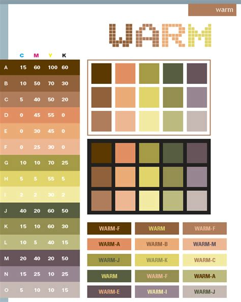 design color schemes warm color schemes color combinations color palettes for print cmyk and web rgb html