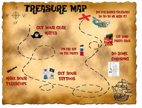 free pirate treasure maps for a pirate birthday party a treasure map that is an itinerary for the party love