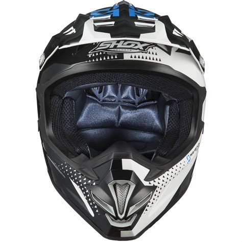 blue motocross helmet shox mx 1 shadow black white blue motocross helmet mx