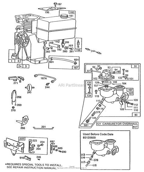 briggs and stratton fuel diagram briggs and stratton 080431 8632 01 parts diagram for