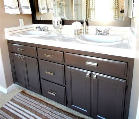 redo bathroom cabinets budget bathroom makeover linky centsational girl