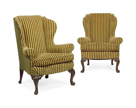 Armchairs Second by A Pair Of George Ii Style Beech Wing Armchairs Second