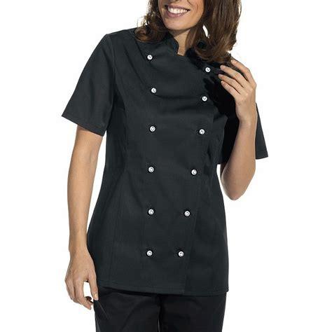veste de cuisine femme veste de cuisine femme manches courtes cintr 233 e poche sur