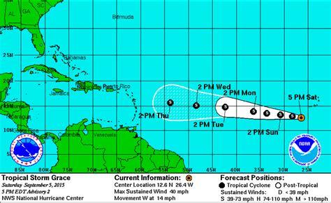 imagenes satelitales tormenta erika visuales esta es la trayectoria de la tormenta tropical grace