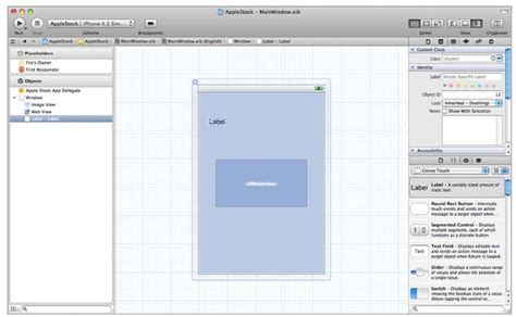 xcode webview layout using interface builder in xcode 4 ios 4 part 1