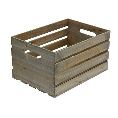 in crate crates pallet 18 in x 12 5 in x 9 5 in large crate in weathered gray 69002 the