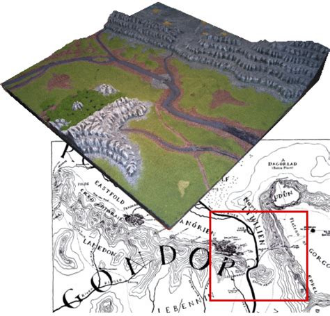 3d map of middle earth an hour of wolves shattered shields miniature gaming website