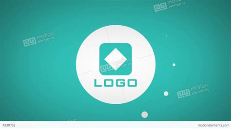 flat color design text titles logo animation intro after