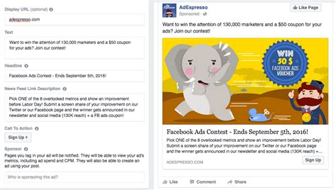 format video facebook ads different types of facebook ads