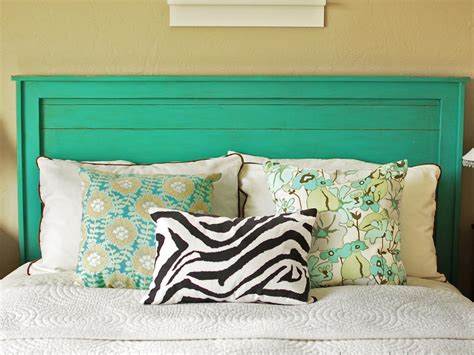 Turquoise Headboard by Rustic Yet Chic Wood Headboard Hgtv