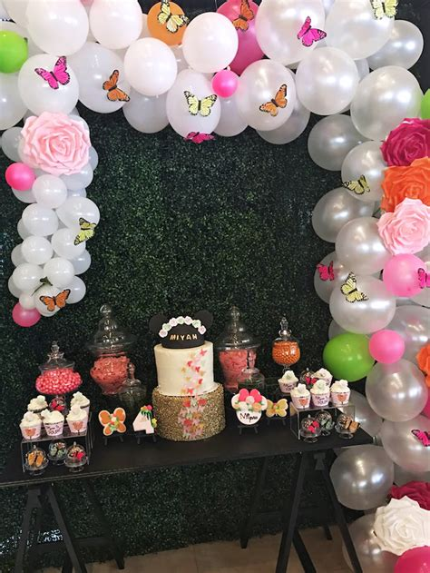 minnie mouse backyard party kara s party ideas minnie mouse inspired butterfly garden