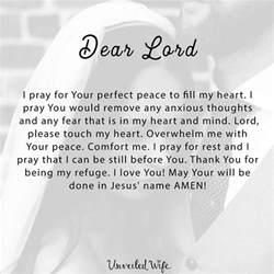 prayer of comfort and peace prayer perfect peace