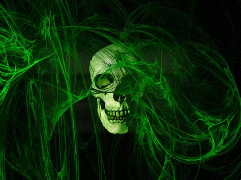 wallpaper green skull wallpapers horror skull wallpapers