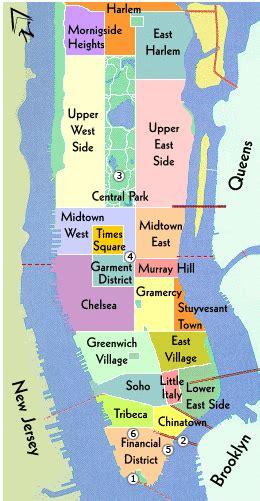 map of neighborhoods in new york city new york city maps nyc and manhattan map